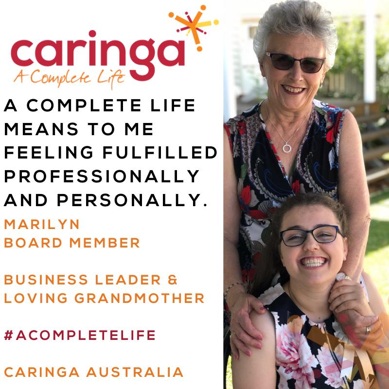 Introducing Caringa Australia's new Board member, Marilyn Brien.