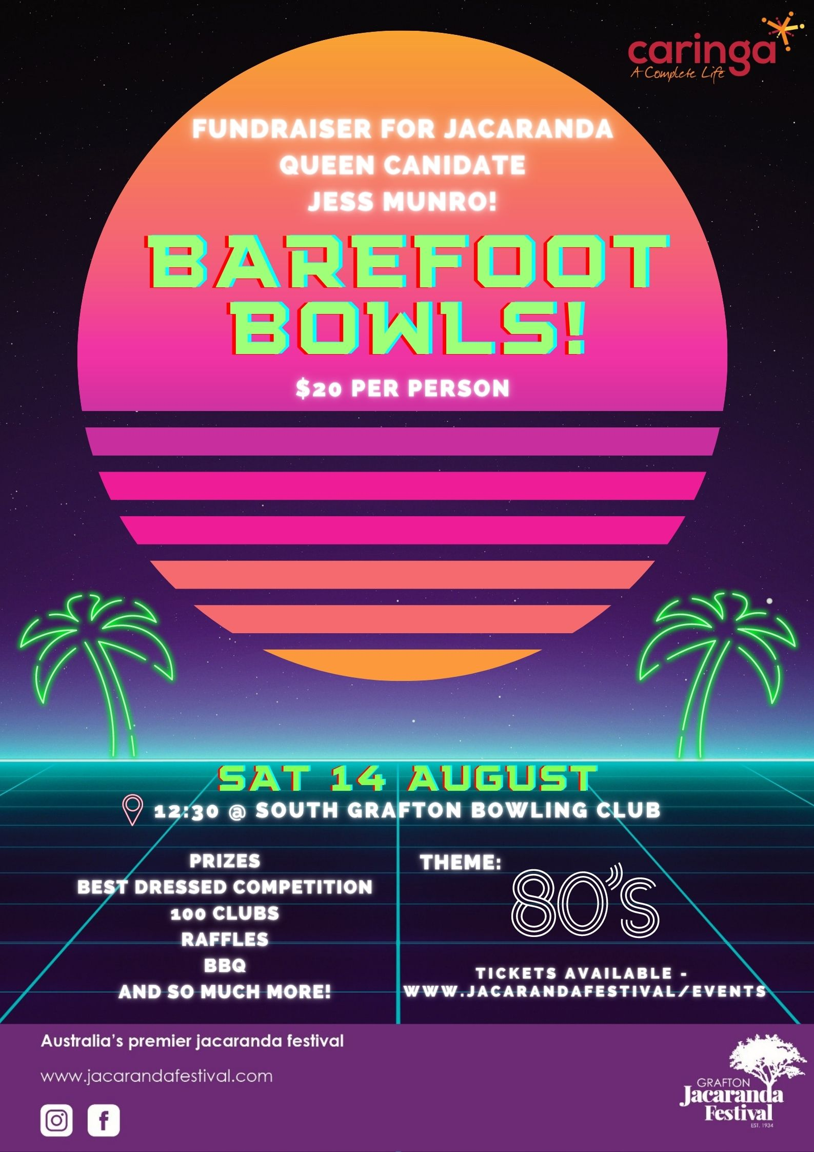 Jacaranda Queen Candidate Jess Munro's Fundraising Event – Barefoot Bowls!